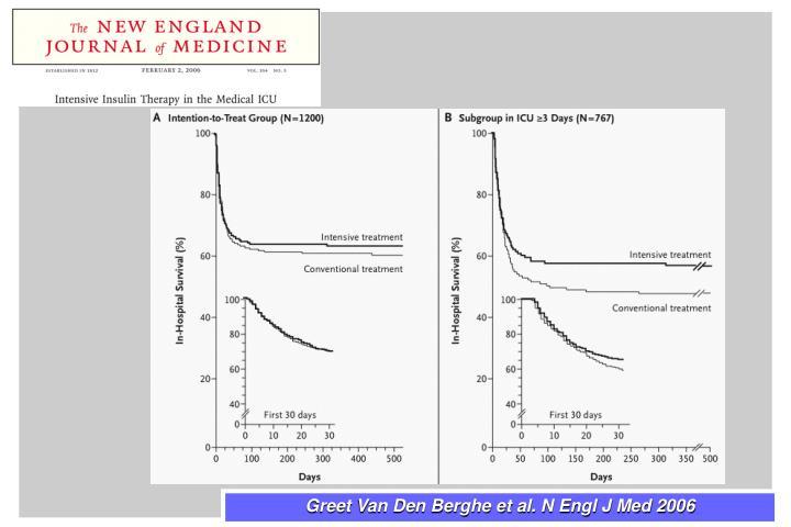 Greet Van Den Berghe et al. N Engl J Med 2006