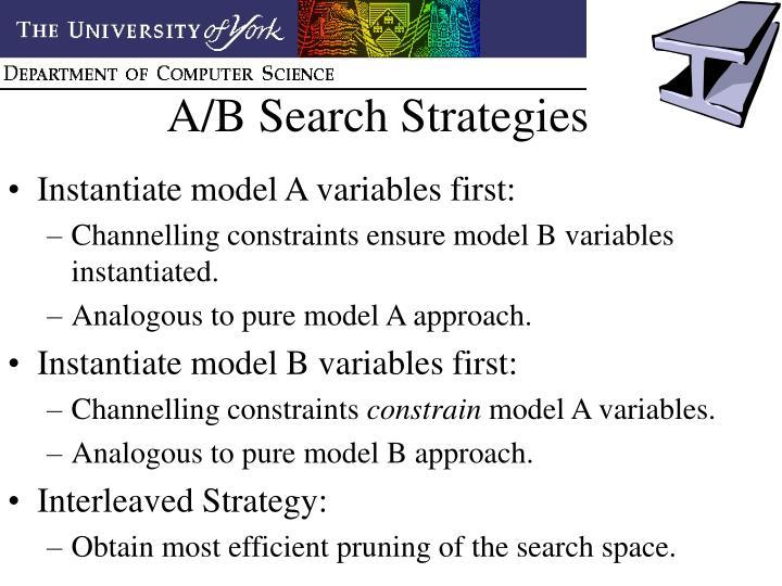 A/B Search Strategies