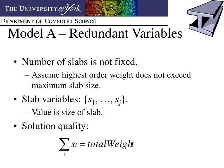 Model A – Redundant Variables