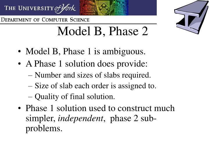 Model B, Phase 2