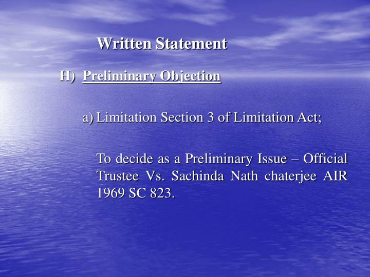 Written Statement