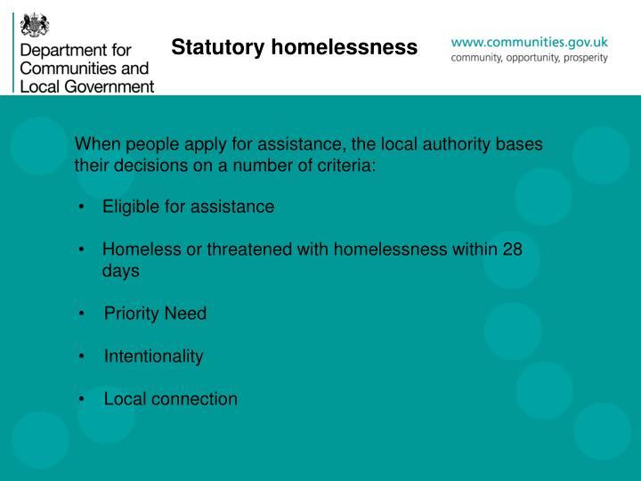 Statutory homelessness