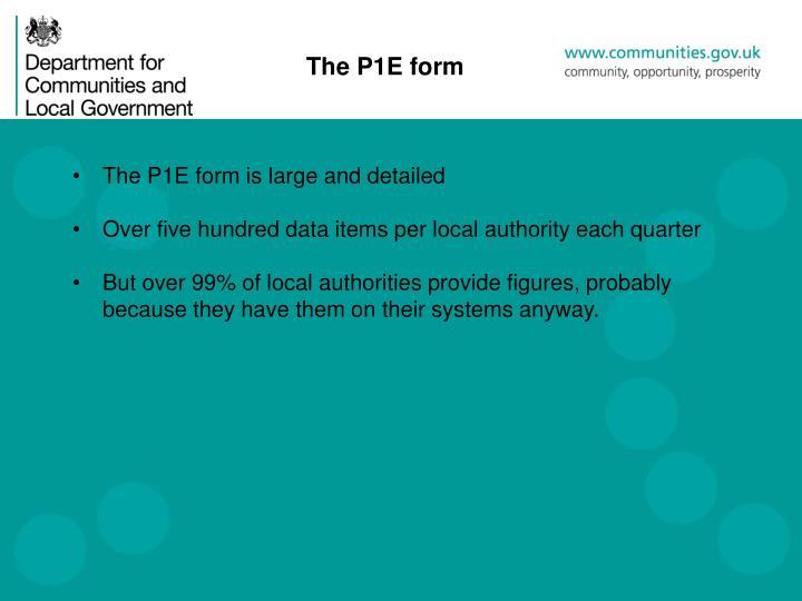 The P1E form