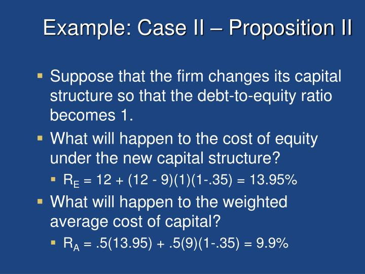 Example: Case II – Proposition II