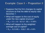 example case ii proposition ii