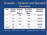 example variance and standard deviation