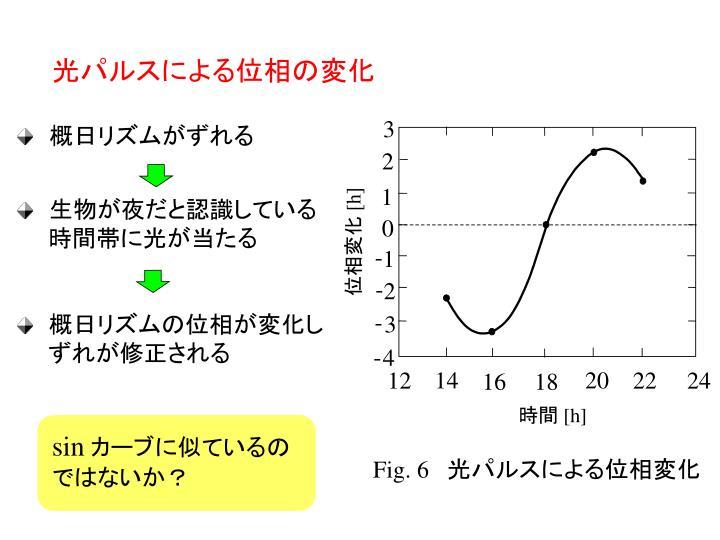 光パルスによる位相の変化