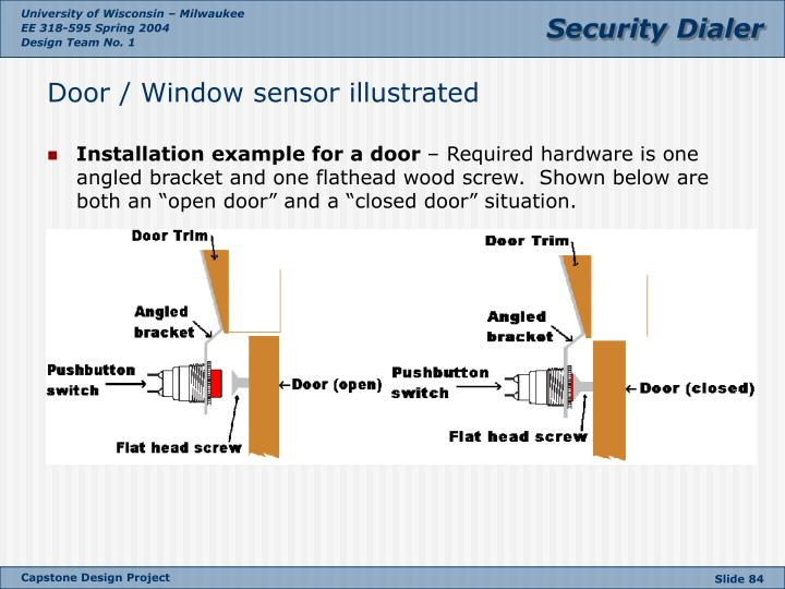 Door / Window sensor illustrated