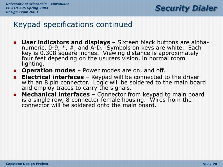 User indicators and displays