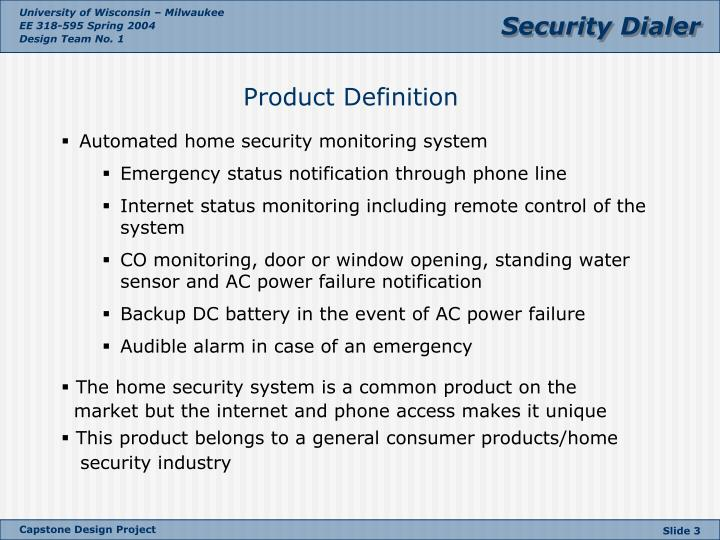 Automated home security monitoring system