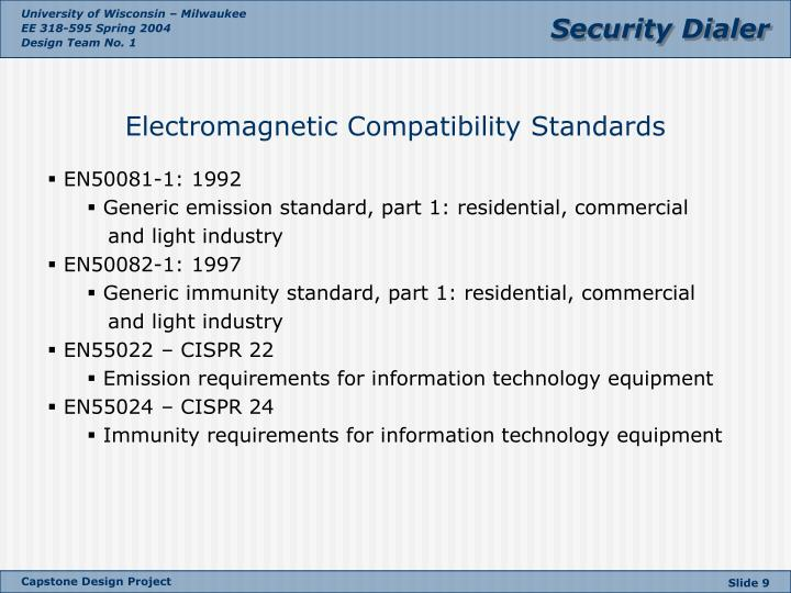 Electromagnetic Compatibility Standards