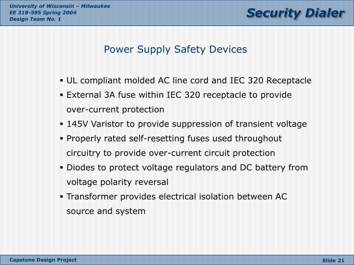 Power Supply Safety Devices