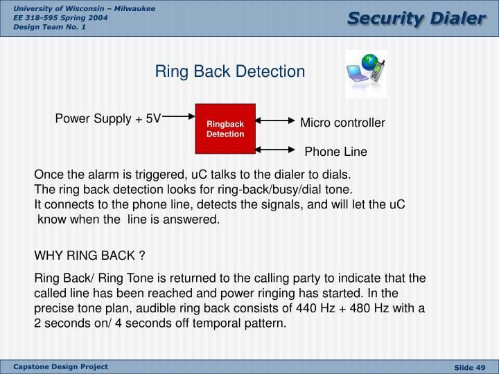 Ring Back Detection