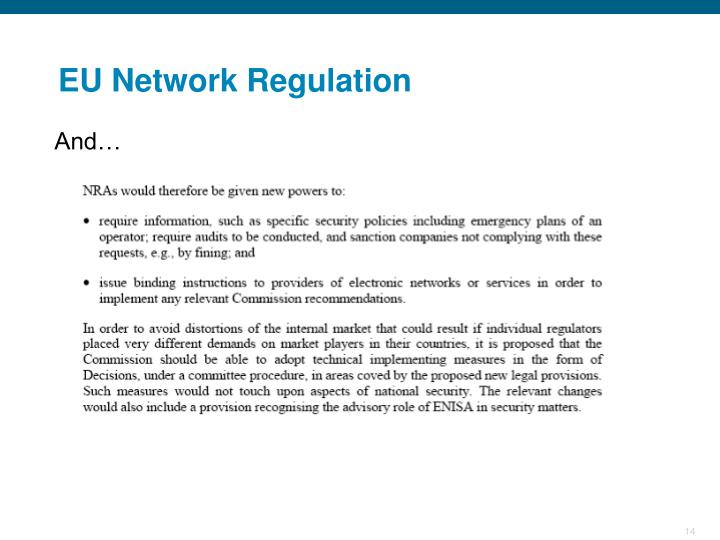 EU Network Regulation