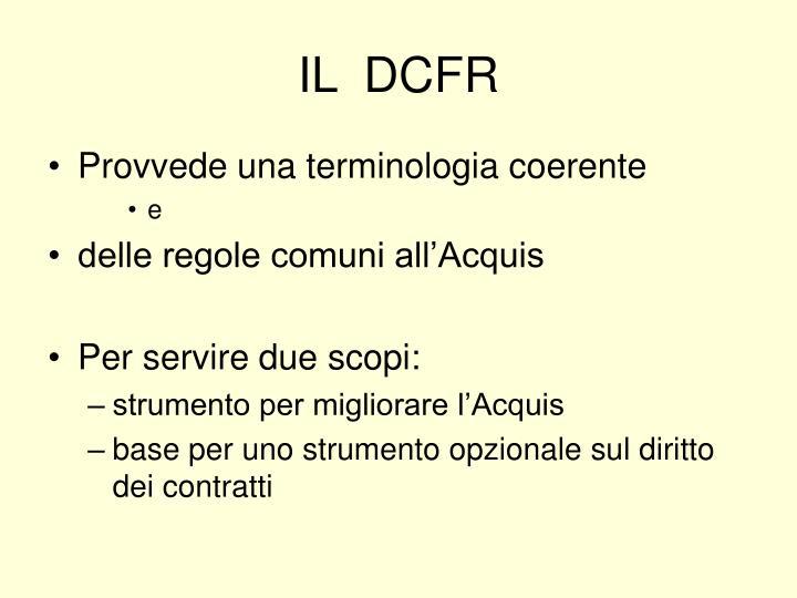 IL  DCFR