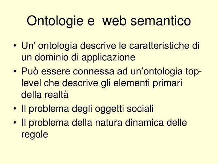 Ontologie e  web semantico