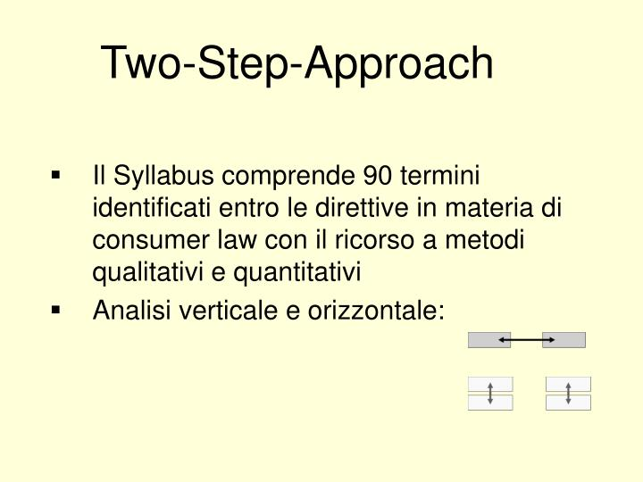 Two-Step-Approach