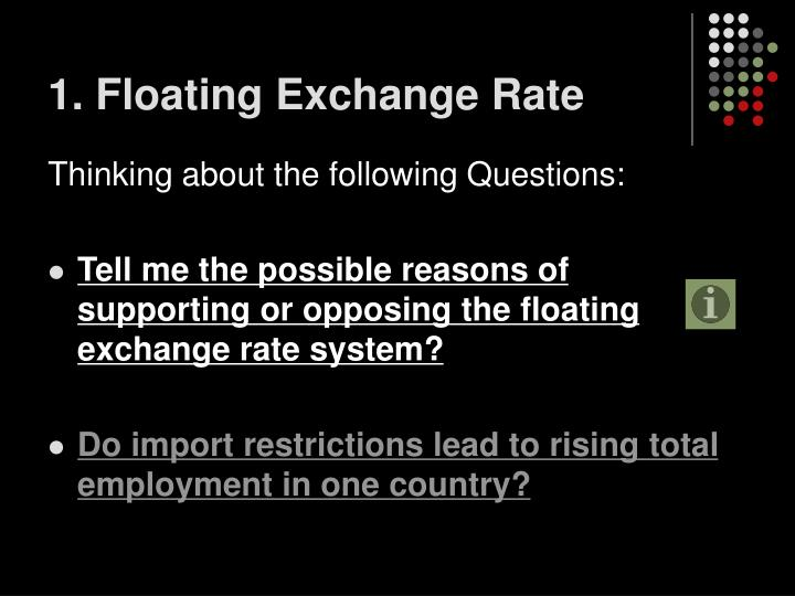1. Floating Exchange Rate