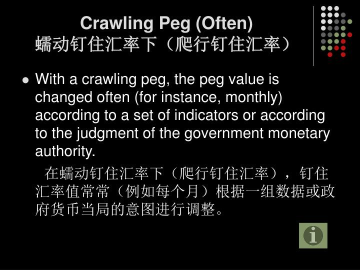 Crawling Peg (Often)