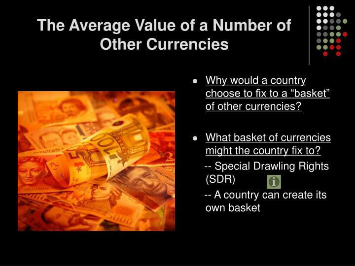 The Average Value of a Number of Other Currencies