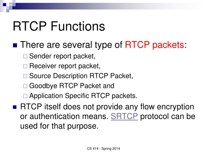 RTCP Functions