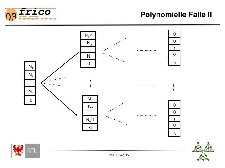 Polynomielle Fälle II