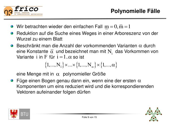 Polynomielle Fälle