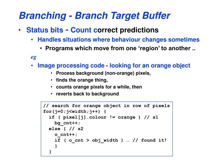 Branching - Branch Target Buffer