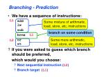 branching prediction1