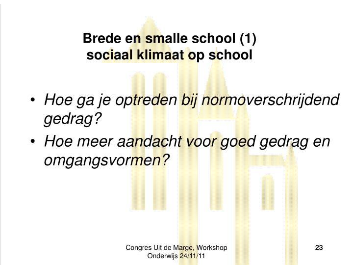 Brede en smalle school (1)