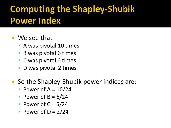Computing the Shapley-
