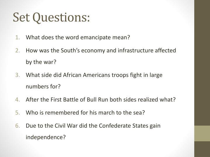 Set Questions: