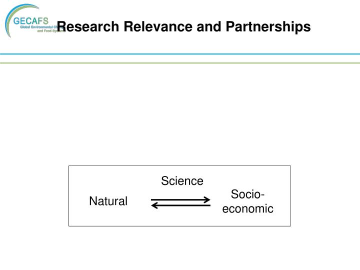 Research Relevance and Partnerships