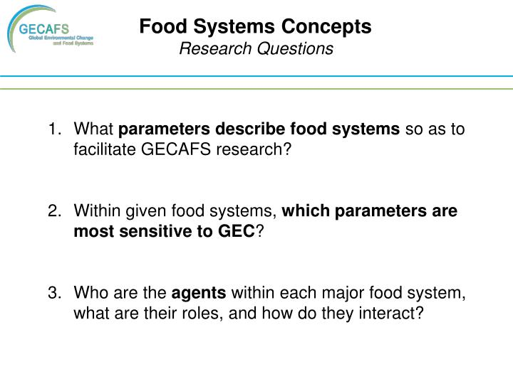 Food Systems Concepts