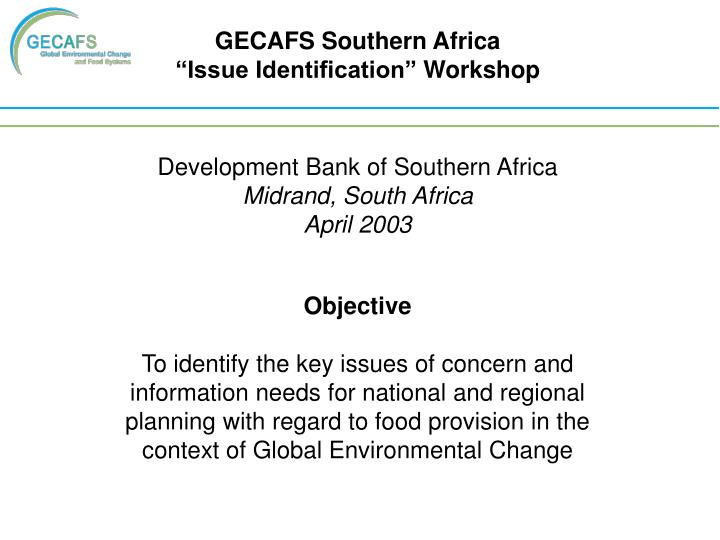 GECAFS Southern Africa