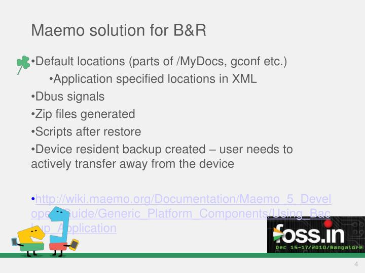 Maemo solution for B&R