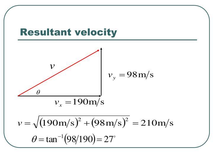 Resultant velocity