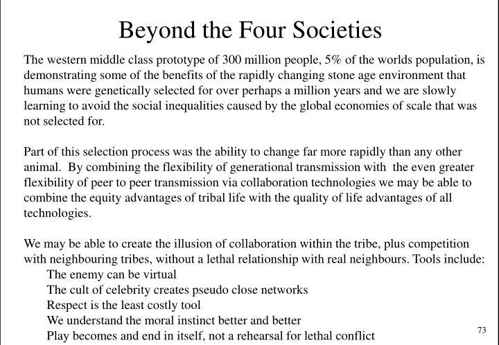 Beyond the Four Societies