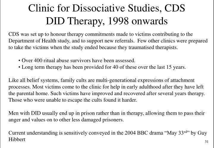 Clinic for Dissociative Studies, CDS