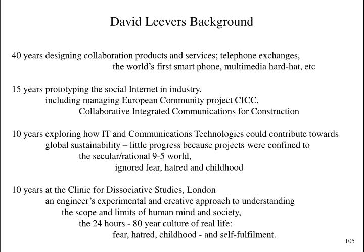 David Leevers Background