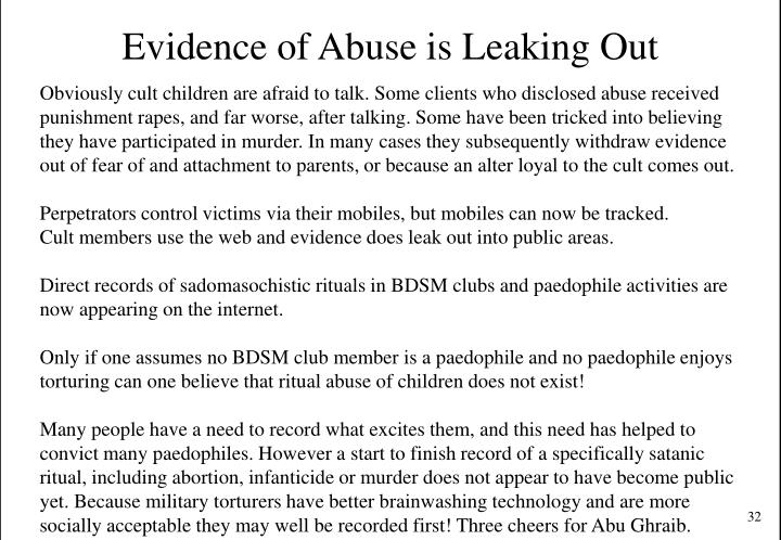 Evidence of Abuse is Leaking Out