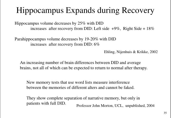 Hippocampus Expands during Recovery
