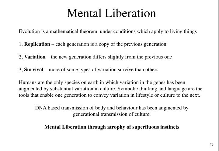 Mental Liberation