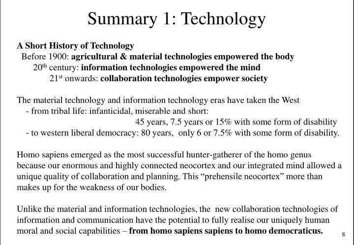 Summary 1: Technology