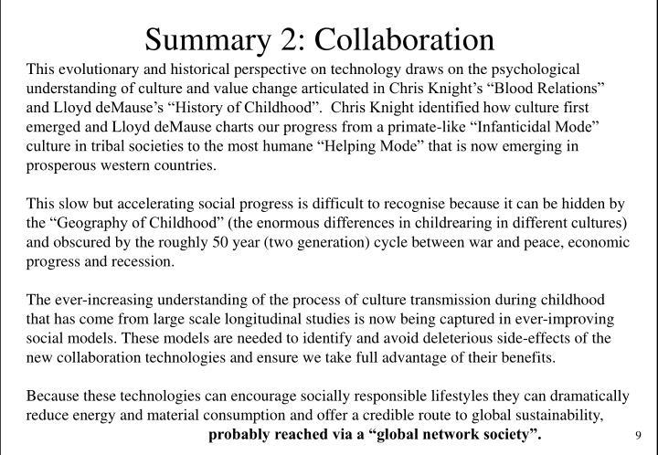 Summary 2: Collaboration