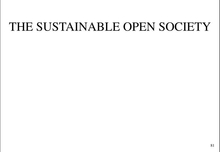 THE SUSTAINABLE OPEN SOCIETY