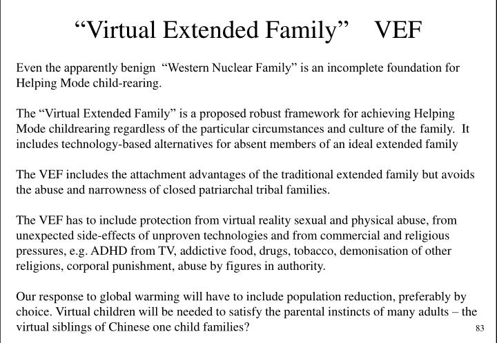 """""""Virtual Extended Family""""    VEF"""