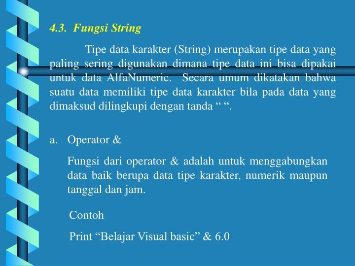 4.3.  Fungsi String