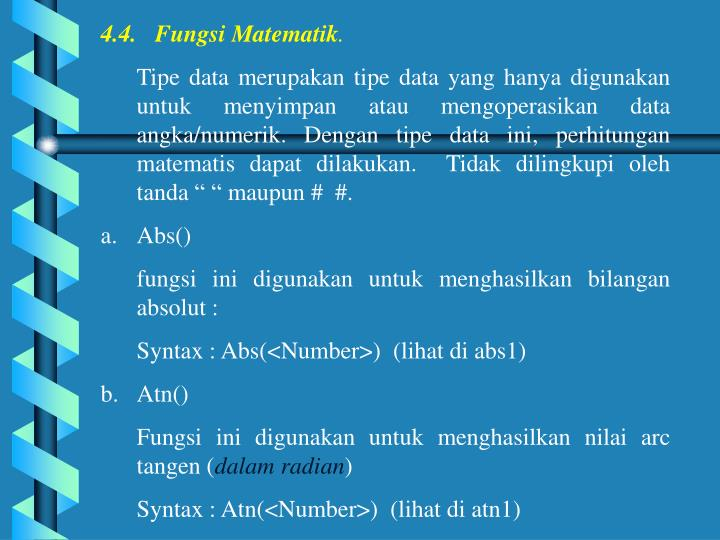 4.4.   Fungsi Matematik