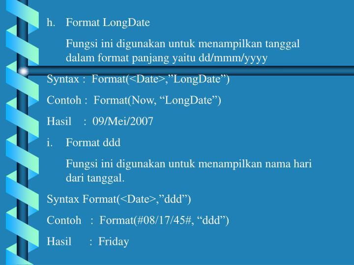 Format LongDate